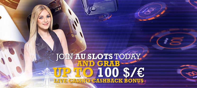 Grab up to 100$/€ live casino Cashback bonus